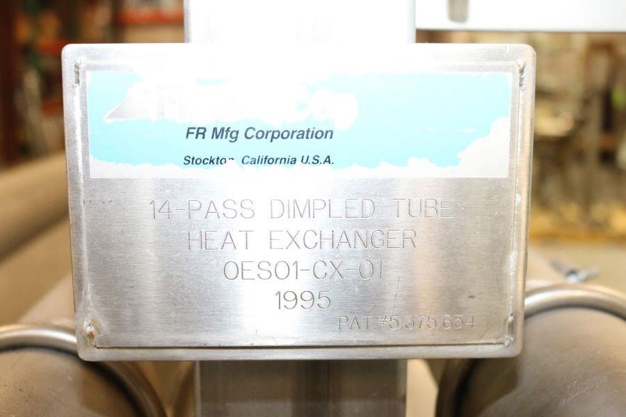 Image FRANRICA 14-Pass Dimpled Tube in Tube Heat Exchanger - Pasteurizer from Food Plant 1499358