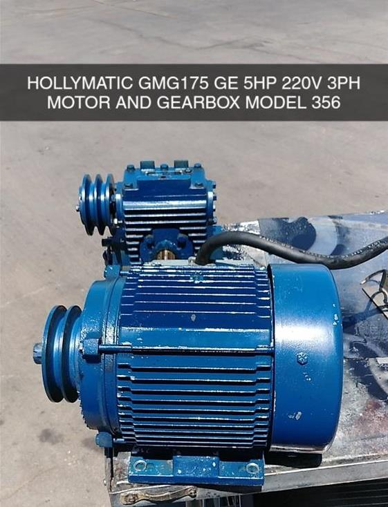 Image HOLLYMATIC GMG-175 7.5HP Motor and Gearbox 1499515