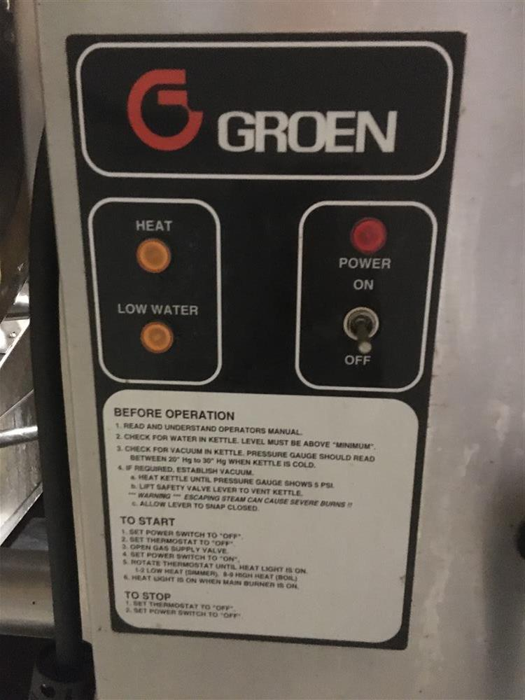 Image GROEN DH-60 Tilting 60 Gallon Self Contained Natural Gas Kettle 1499639