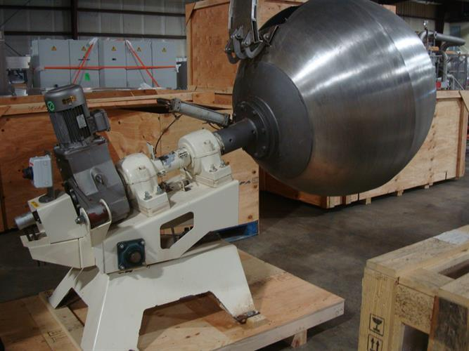Image 48in Dia. Polishing Coating Pan - Stainless Steel 1500914