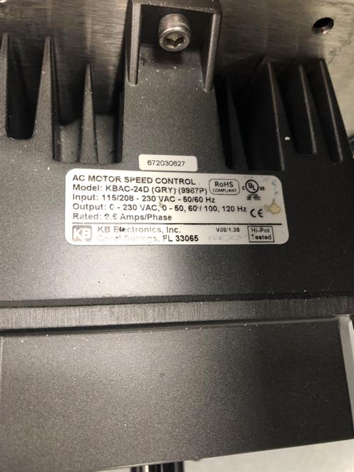 Image 7.5in W X 9ft L Belt Conveyor - Stainless Steel 1500896