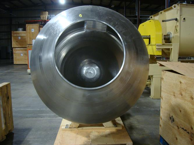Image 48in Dia. Grossing Coating Pan - Stainless Steel 1500906