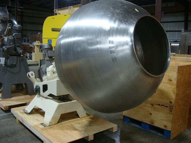 Image 48in Dia. Polishing Coating Pan - Stainless Steel 1500934