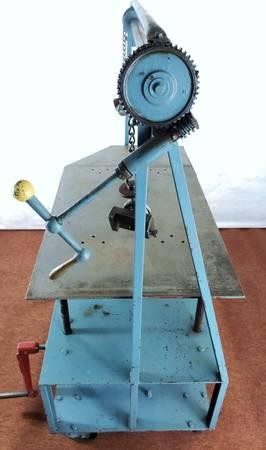 Image DIE CART Mobile Lift / Multiduty Mold Handler Truck - 52in W Table Cranks Up and Down  1501029