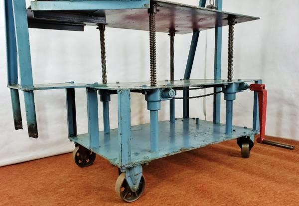Image DIE CART Mobile Lift / Multiduty Mold Handler Truck - 52in W Table Cranks Up and Down  1501030