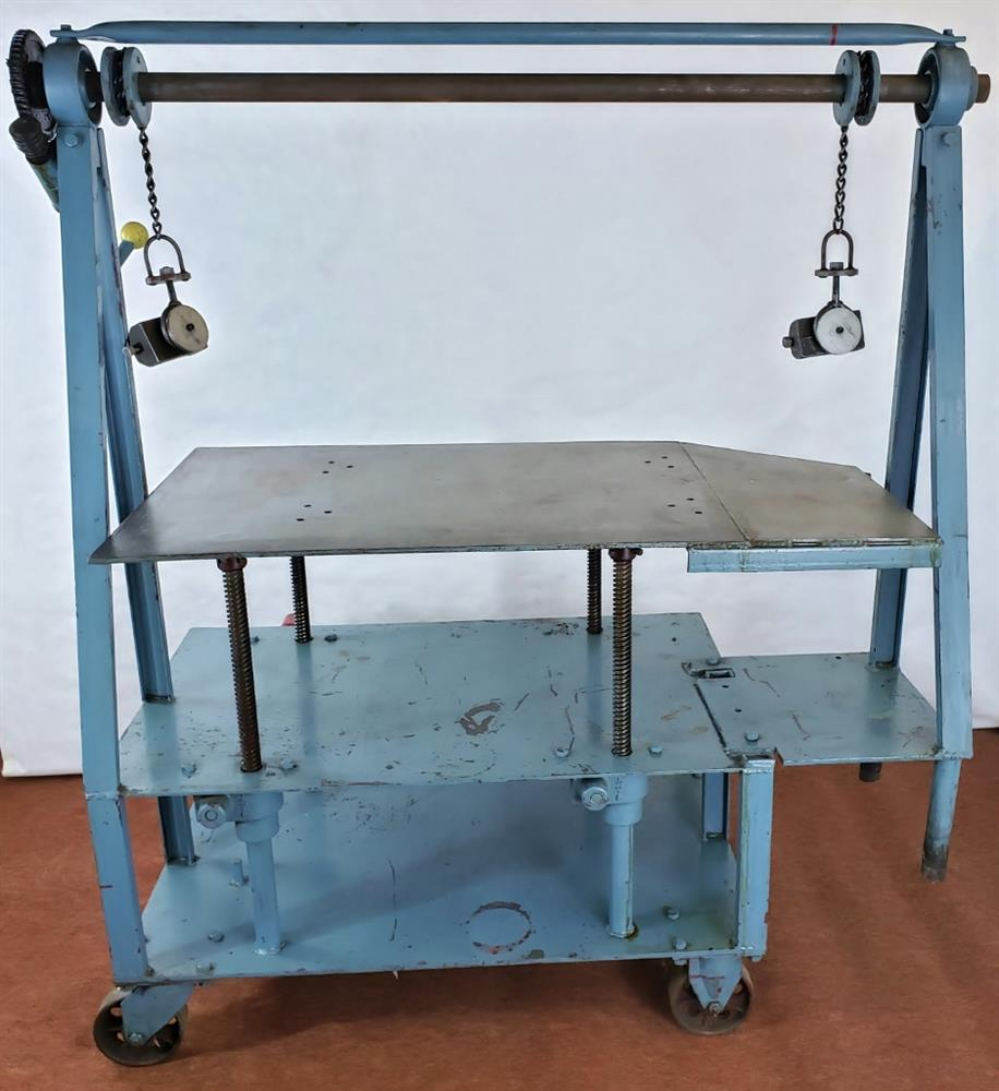 Image DIE CART Mobile Lift / Multiduty Mold Handler Truck - 52in W Table Cranks Up and Down  1501032