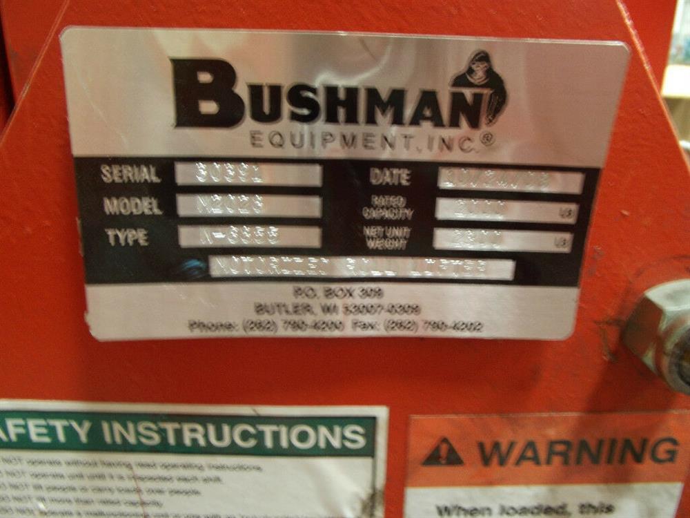 Image BUSHMAN M2028 Roll Hoist Motorized Roll Lifter 1501120