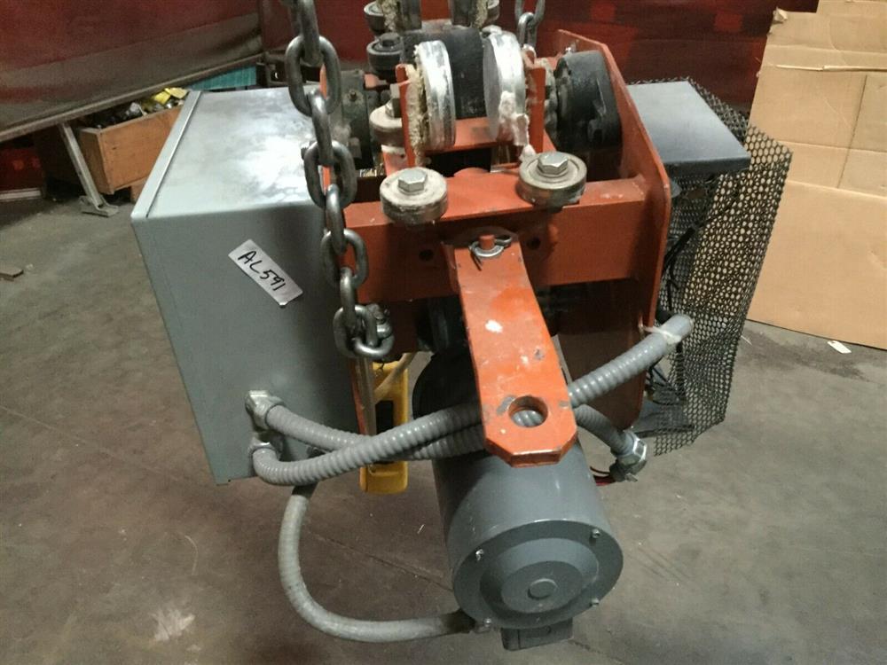 Image 1 Ton TC AMERICAN MONORAIL Trolley Electric Hoist 1501263