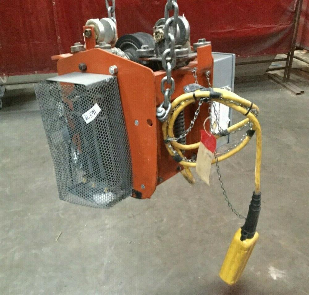Image 1 Ton TC AMERICAN MONORAIL Trolley Electric Hoist 1501272