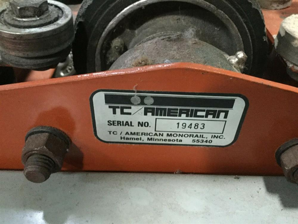 Image 1 Ton TC AMERICAN MONORAIL Trolley Electric Hoist 1501264