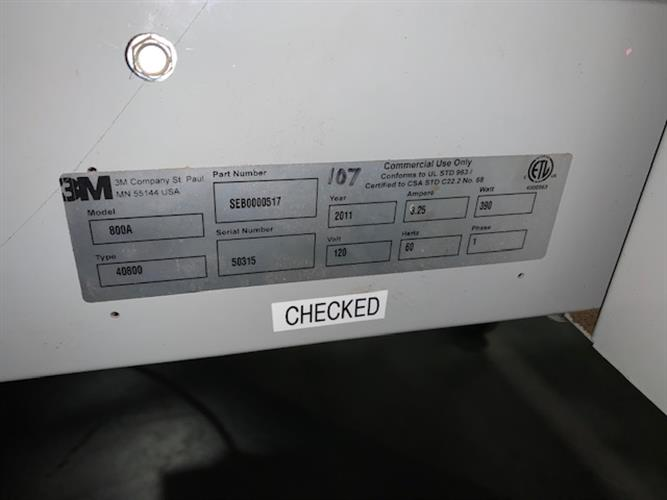 Image 3M 800A Automatic Top and Bottom Case Taper 1502655