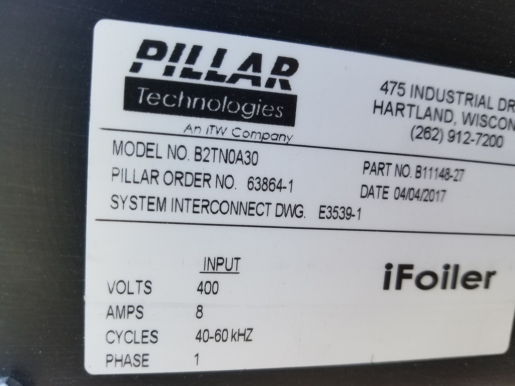 Image PILLAR D2P17 420 32308 iFoiler Induction Cap Sealer 1507670