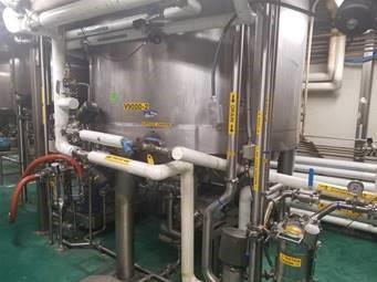 Image 9000 Liter Jacketed Mixing Tanks with Scrape, Counter-Scrape and Homogenizer - Lot of 2 1508151