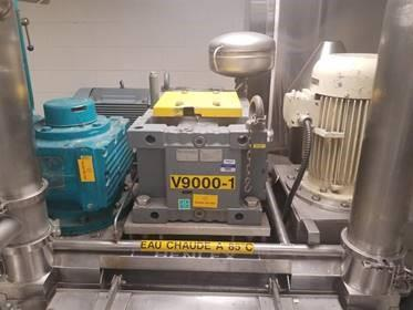 Image 9000 Liter Jacketed Mixing Tanks with Scrape, Counter-Scrape and Homogenizer - Lot of 2 1508157