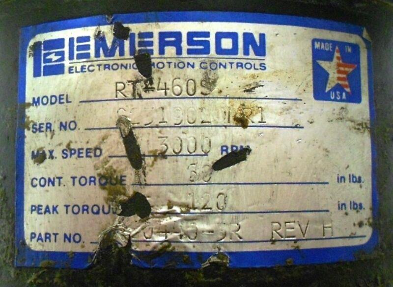 Image EMERSON RT-460S Servo Motor 1508571