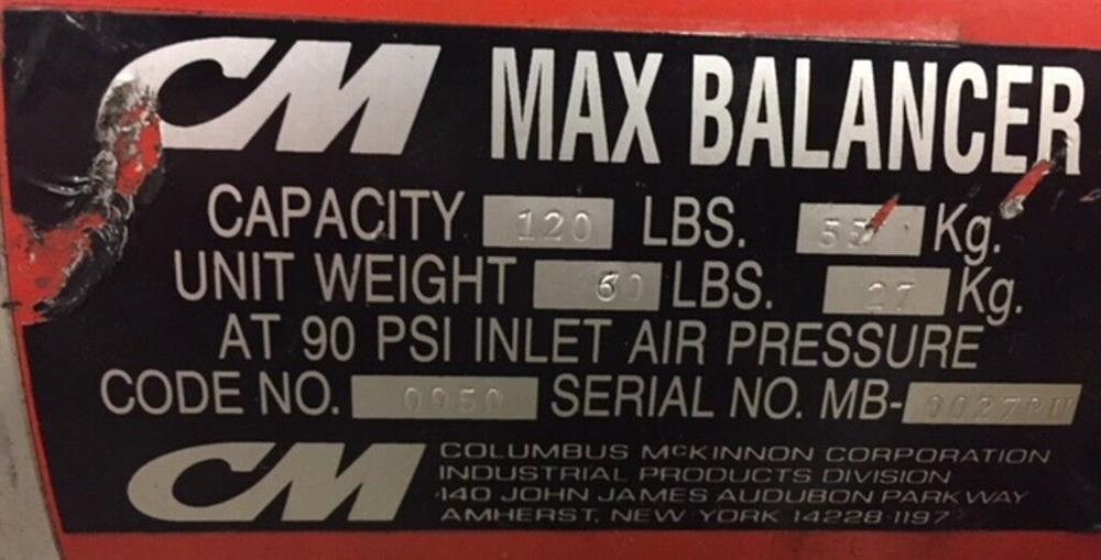 Image CM Pneumatic Chain Hoist Max Balancer 1508597
