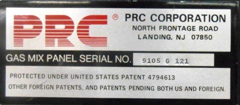 Image PRC CORPORATION Gas Mixing Unit Panel 1508622