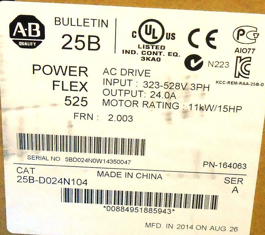 Image ALLEN BRADLEY Powerflex 525 AC Drive 1508645