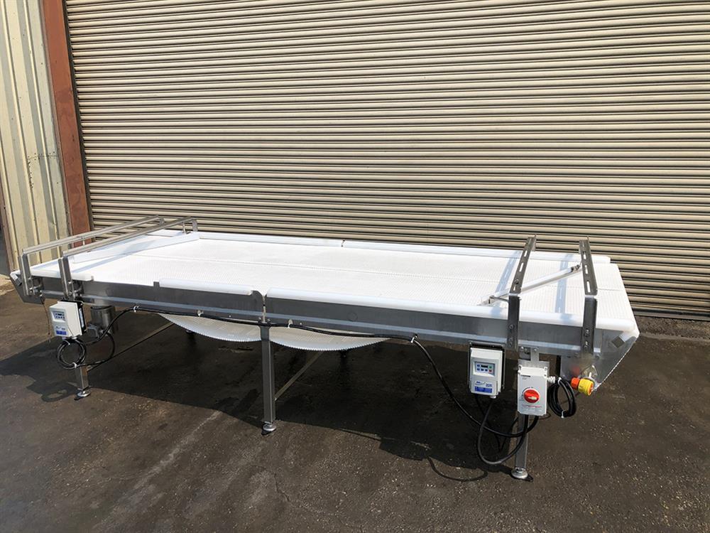 Image 4ft X 12ft L DORNER Accumulation Reflow Table - Stainless Steel, Food Grade 1514866