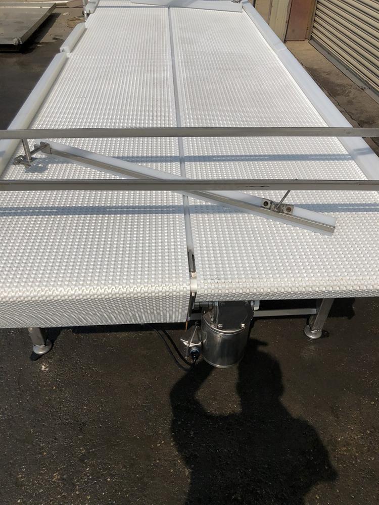 Image 4ft X 12ft L DORNER Accumulation Reflow Table - Stainless Steel, Food Grade 1514874