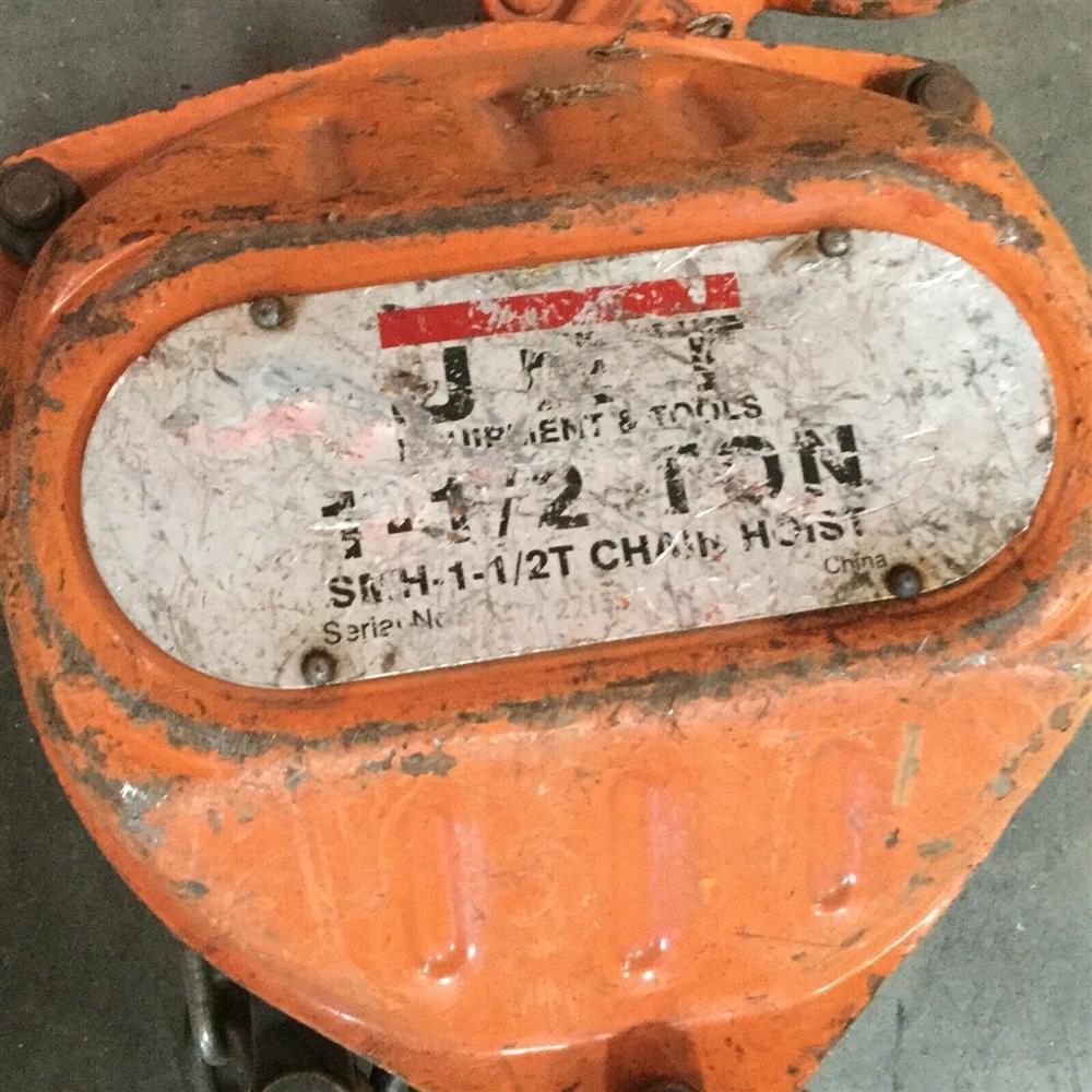 Image JET SHM-1-1/2T Chain Hoist - 1.5 Ton Capacity  1519656