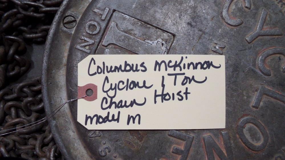 Image 1 Ton COLUMBUS MCKINNON Cyclone Chain Hoist 1519659