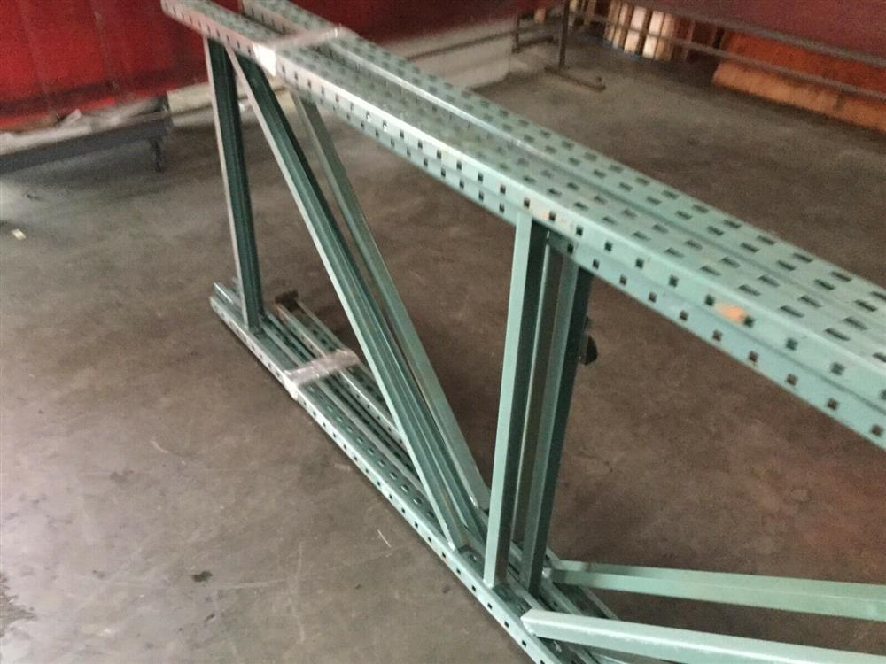 Image Lot of 3 Pallet Racking Uprights 1519709