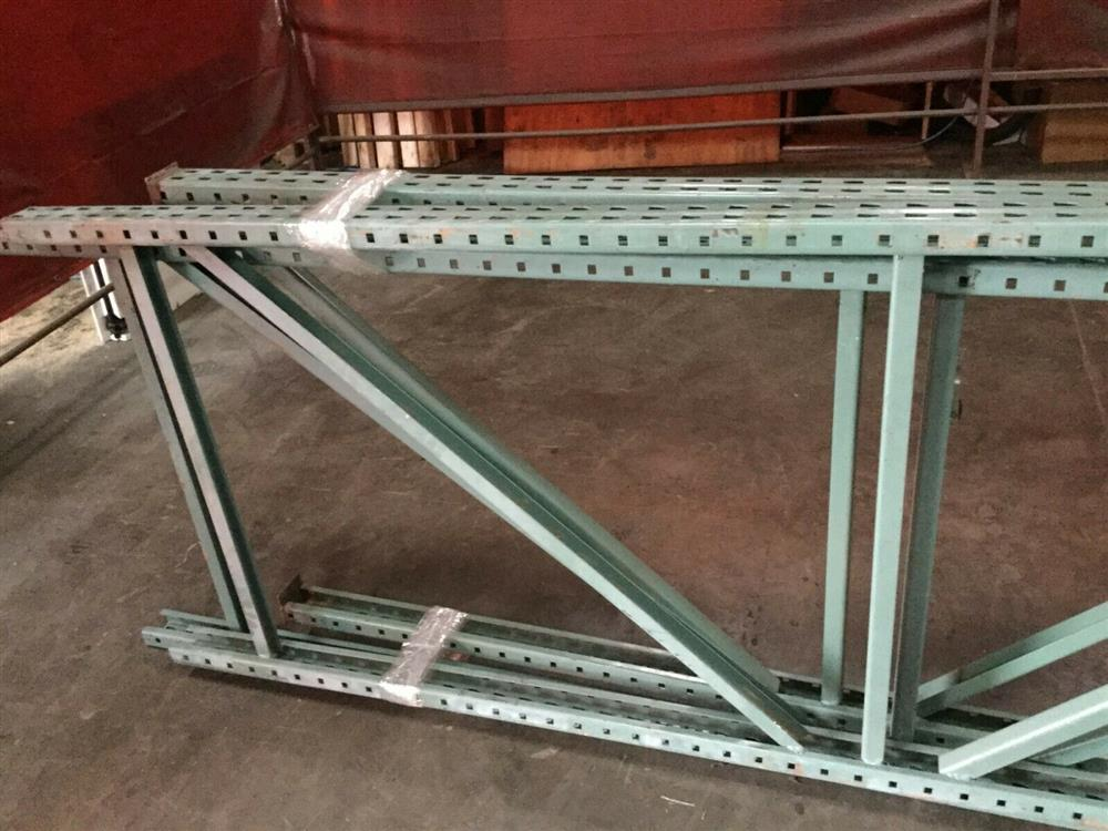 Image Lot of 3 Pallet Racking Uprights 1519710
