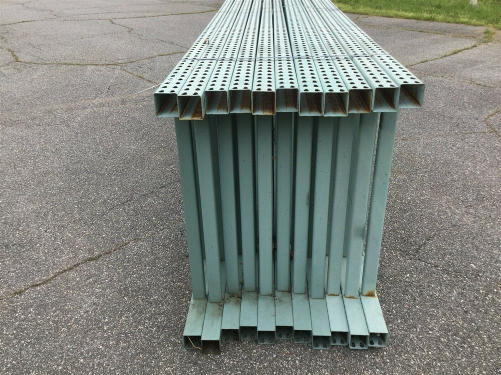 Image Lot of 11 Upright Tear Drop Style Pallet Racking 1519742