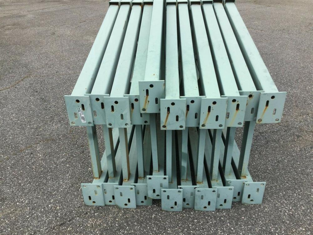 Image Lot of 11 Upright Tear Drop Style Pallet Racking 1519747