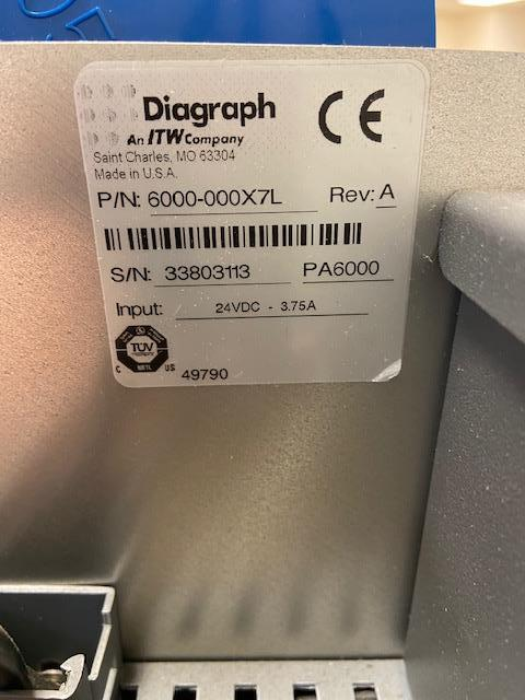 Image DIAGRAPH PA-6000 Print and Apply System 1519785