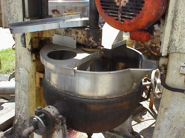 Image 30 Gallon Stainless Steel Jacketed Kettle with Copper Double Motion Anchor Type Scrapper Blades 1519787