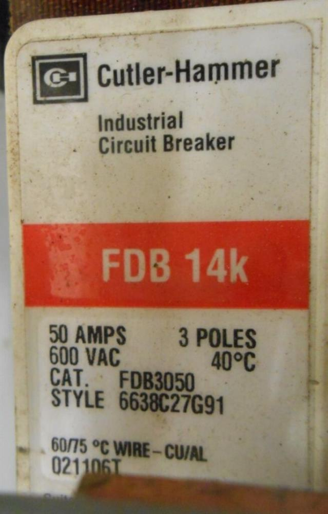 Image EATON CUTLER HAMMER Busway Circuit Breaker Enclosure 1519958