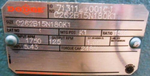 Image DODGE Combination Tigear Worm Gear Speed Reducer 1519965