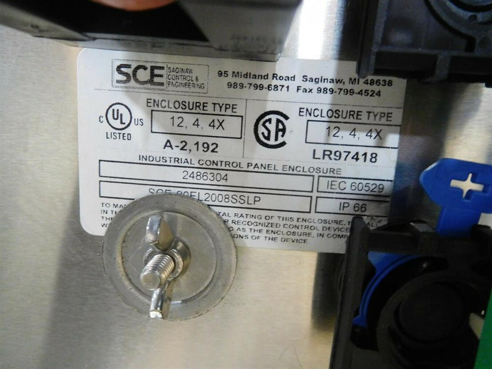 Image HOFFMAN Electrical Enclosure with Allen Bradley Panelview 1525025