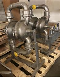 Image 3in DEPA Sanitary Diaphragm Pumps - 2 Units Available 1525561