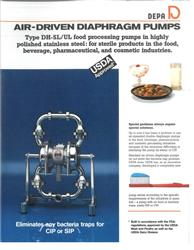 Image 3in DEPA Sanitary Diaphragm Pumps - 2 Units Available 1525564