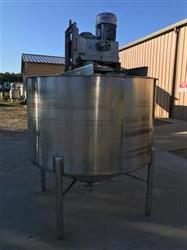 Image 600 Gallon High Shear Mixing Tank - 304 Stainless Steel 1526739