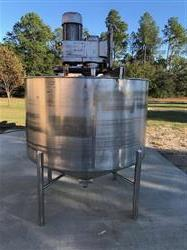 Image 600 Gallon High Shear Mixing Tank - 304 Stainless Steel 1526741