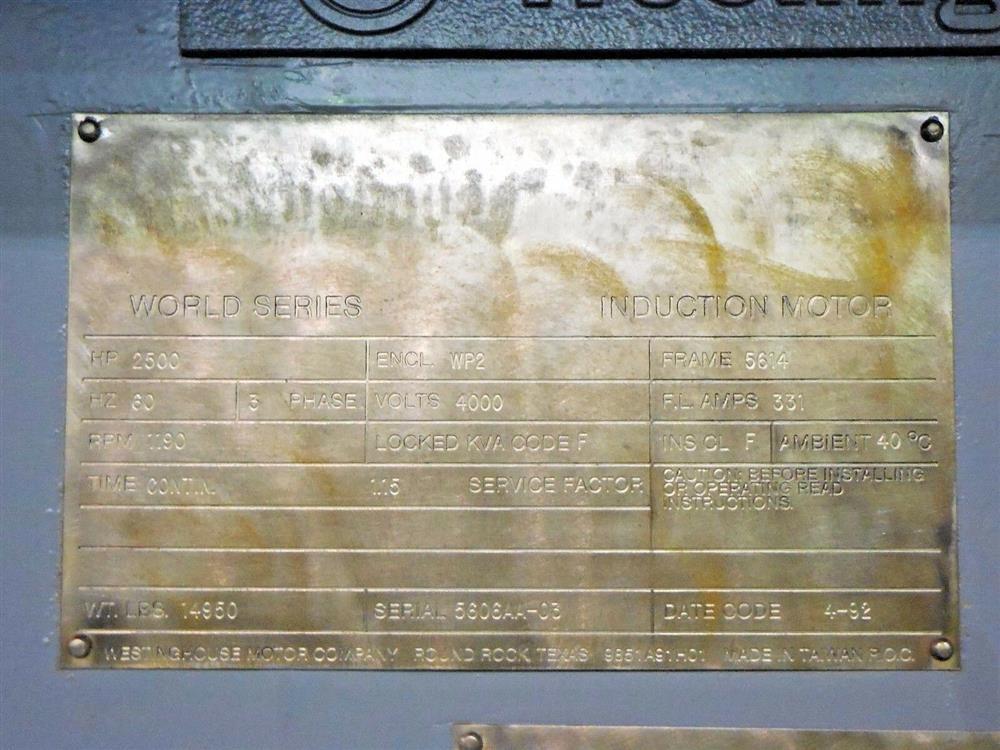 Image 2500 HP WESTINGHOUSE Induction Motor 1527575