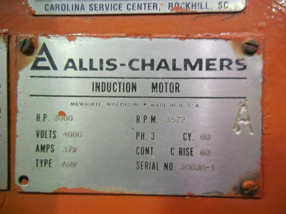 Image 3000 HP ALLIS CHALMERS Induction Motor - Type ANW 1527607