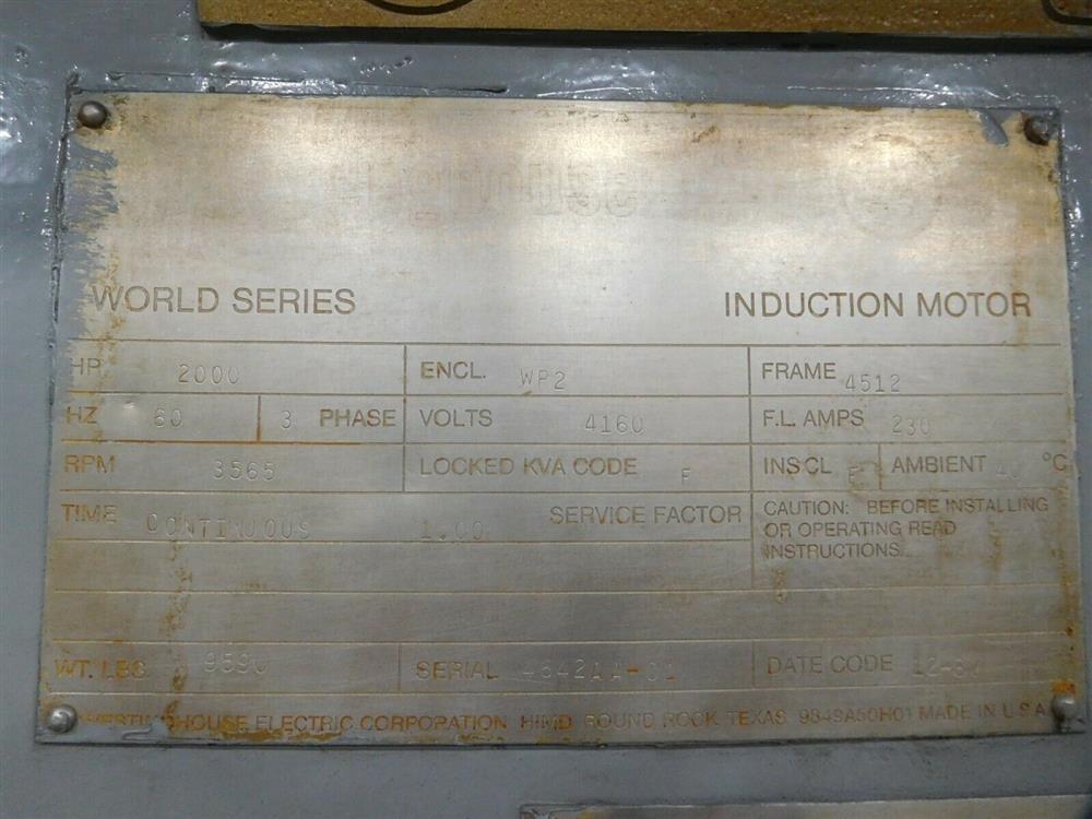 Image 2000 HP WESTINGHOUSE World Series Induction Motor 1527805