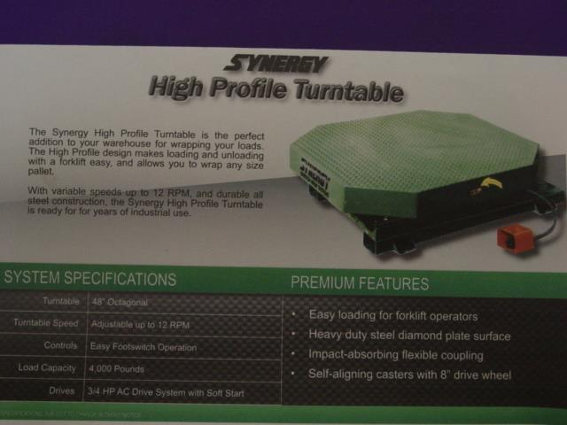 Image HIGHLIGHT INDUSTRIES High Profile Stretch Wrap Turntable Like New Condition 1528977