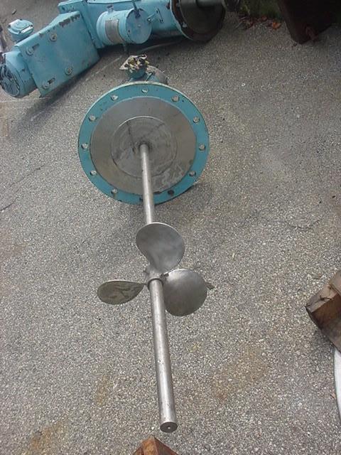 Image 1.5 HP CHEMINEER VLA-15 Vertical Down Flange Mount Mixer 1531779