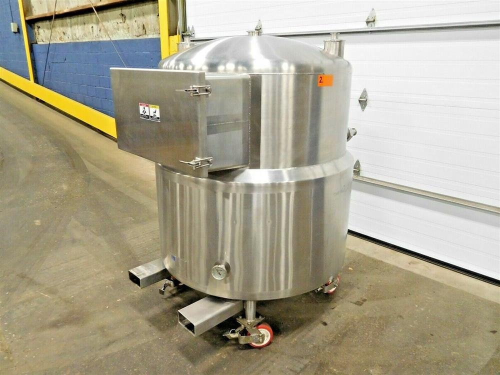 Image 150 Gallon A&B PROCESS SYSTEMS Jacketed Tank with Racking 1531856