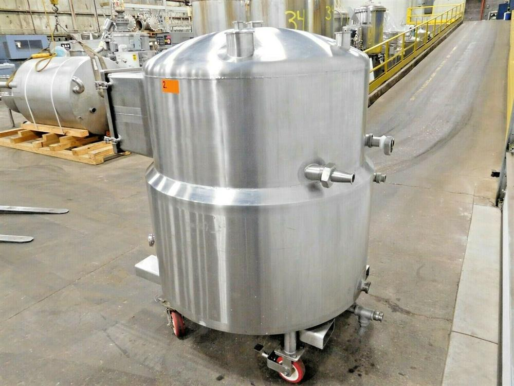 Image 150 Gallon A&B PROCESS SYSTEMS Jacketed Tank with Racking 1531857