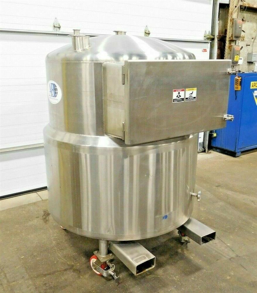 Image 150 Gallon A&B PROCESS SYSTEMS Jacketed Tank with Racking 1531867
