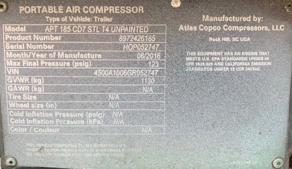 Image ATLAS COPCO Air Compressor 1531907