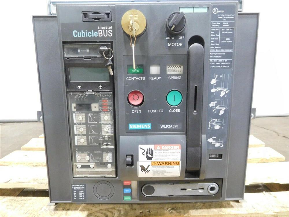 Image SIEMENS WLF2A320 Integrated Cubicle Bus Power Circuit Breaker 1532078