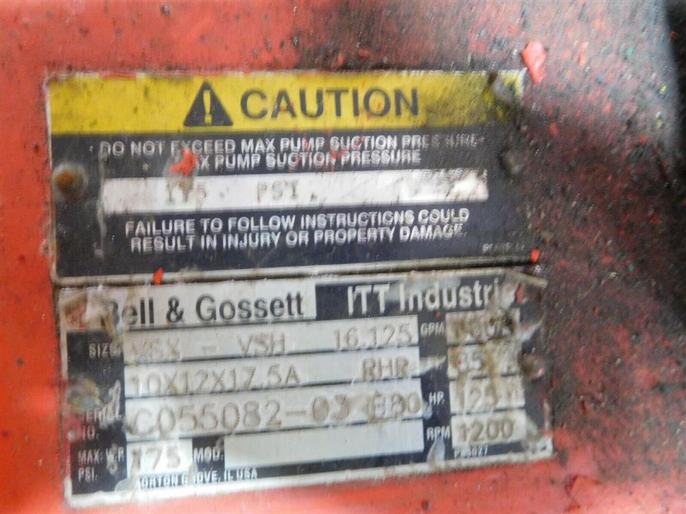 Image BELL GOSSETT VSX VSH 16.125 Pump 1532147